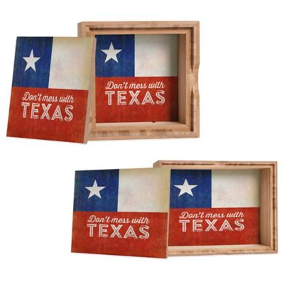 "DENY Designs Medium Anderson Design Group ""Don't Mess with Texas"" Flag Jewelry Box"