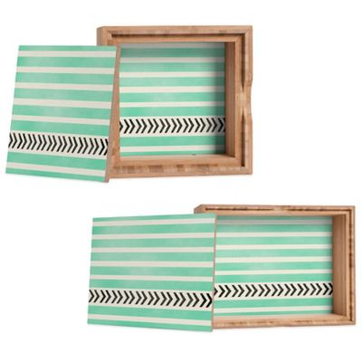 DENY Designs Medium Allyson Johnson Stripes and Arrows Jewelry Box