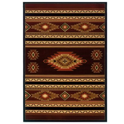 United Weavers Soaring Diamond 2-Foot 7-Inch x 4-Foot 2-Inch Accent Rug in Terracotta