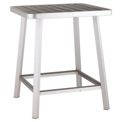 Zuo® Megapolis Bar Table in Brushed Aluminum