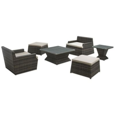 Zuo® Gasparilla Tower 6-Piece Conversation Set in Espresso