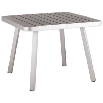 Zuo® Township Square Dining Table in Brushed Aluminum