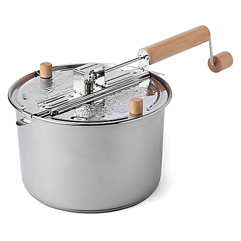 Wabash Valley Farms Stainless Steel 6 Quart Whirley Pop