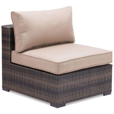 Zuo® Bocagrande Middle Chair in Brown