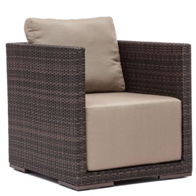 Zuo® Park Island Arm Chair in Brown