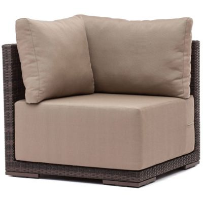 Zuo® Park Island Corner Chair in Brown
