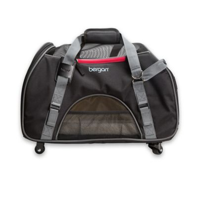 Bergan® Large Wheeled Comfort Pet Carrier in Black