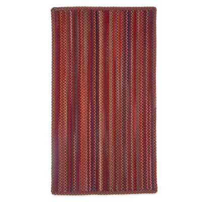 Capel Portland 3-Foot x 5-Foot Indoor Braided Rug - Red