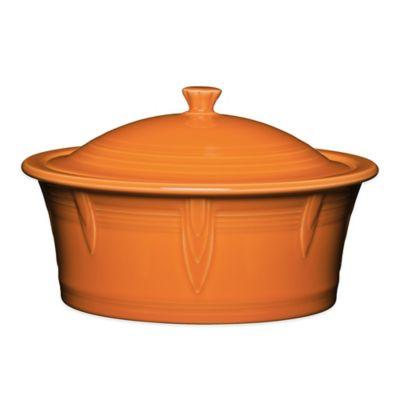 Fiesta® Covered Casserole Dish in Tangerine