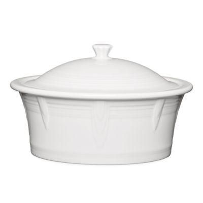 Fiesta® 90 oz. Covered Casserole Dish in White