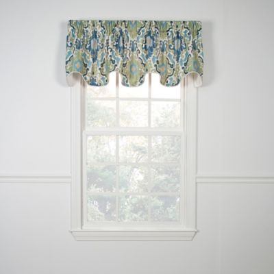 Tuscany Scallop Valance in Blue