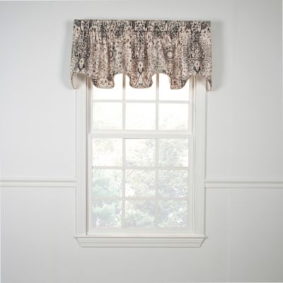 Grey Scallop Valance
