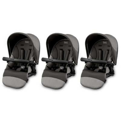 Peg Perego Triplette Stroller Separates > Peg Perego Triplette Stroller Seats in Atmosphere (Set of 3)