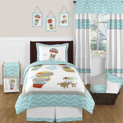 Sweet Jojo Designs Balloon Buddies 4-Piece Twin Comforter Set