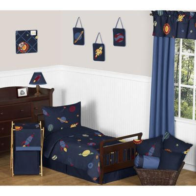 Sweet Jojo Designs Space Galaxy 5-Piece Toddler Bedding Set