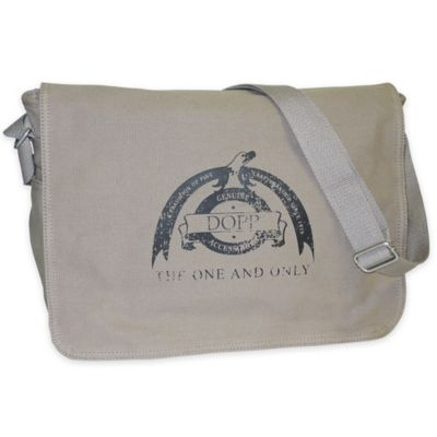 Dopp Legacy Canvas Messenger Bag in Beige
