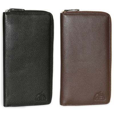 Dopp SoHo RFID-Blocking Leather Passport Travel Wallet in Black