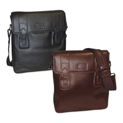 Dopp Gear Leather Urban Messenger Bag in Brown