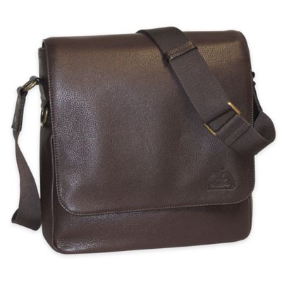 Dopp SoHo Leather Messenger Bag in Brown