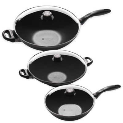 Swiss Diamond® 12.5-Inch Induction Nonstick Wok with Lid