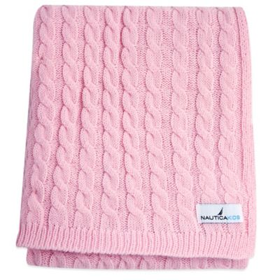 Nautica Kids® Mix & Match Cable Knit Blanket in Pink