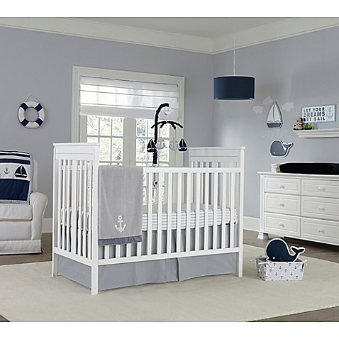 Nautica Kids Mix & Match Crib Bedding in Grey White