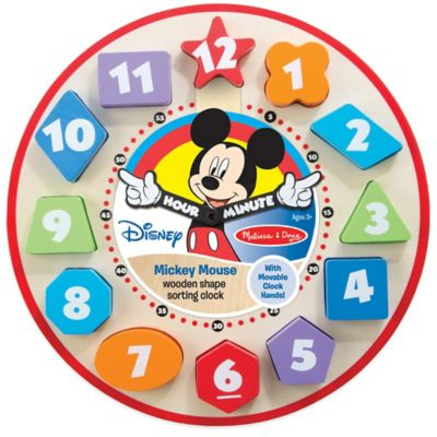 Disney® Mickey Mouse Wooden Shape Sorting Clock