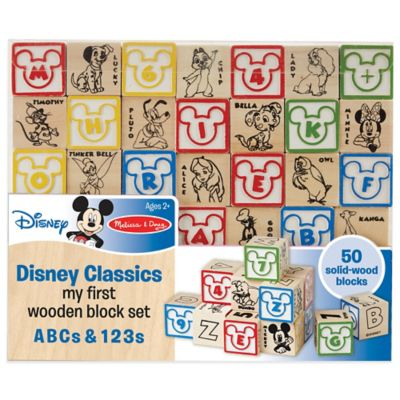 Disney® Classics My First ABCs and 123s Wooden Block Set