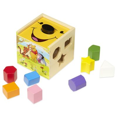 Disney® Winnie the Pooh Wooden Shape Sorting Cube
