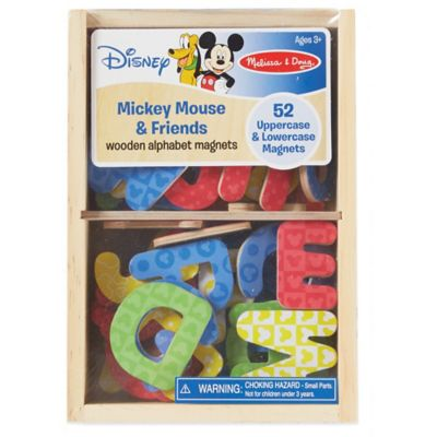 Disney® Mickey Mouse and Friends Wooden Alphabet Magnets