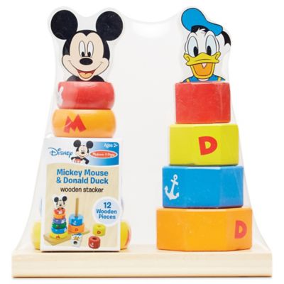 Disney® Mickey Mouse and Donald Duck Wooden Stacker