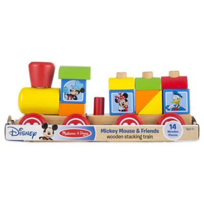 Disney® Mickey Mouse and Friends Wooden Stacking Train