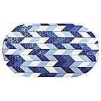 Broken Chevron Tub Mat in Indigo