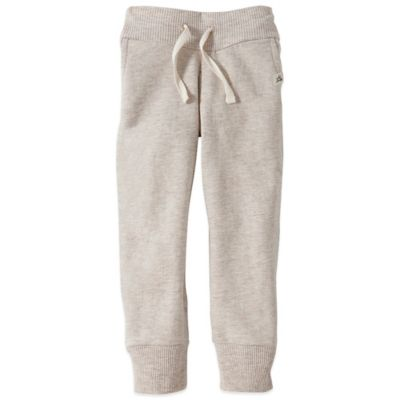 Burt's Bees Baby™ Size 18M Organic Cotton Faux Drawstring Pant in Oatmeal