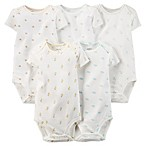 Carter's® Size 3M 5-Pack Short Sleeve Bodysuits in Ivory