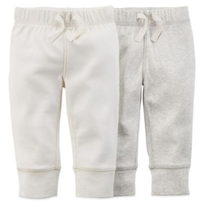 Carter's® Newborn 2-Pack Footless Pant in Ivory/Heather