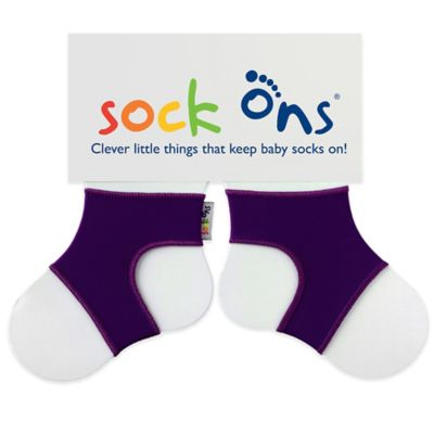Sock Ons® Size 6-12M Classic in Grape