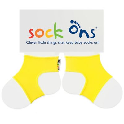 Sock Ons® Size 6-12M Classic in Lemon