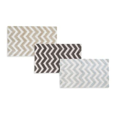 Park B. Smith® 20-Inch x 30-Inch Zig Zag Bath Rug in Linen