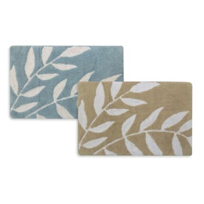 Park B. Smith® 20-Inch x 30-Inch Leaves Bath Rug in Aquamarine