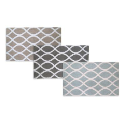 Park B. Smith® 21-Inch x 34-Inch Lattice Bath Rug in Aquamarine