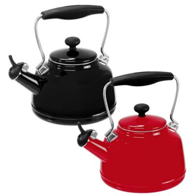 Red Steel Tea Kettles