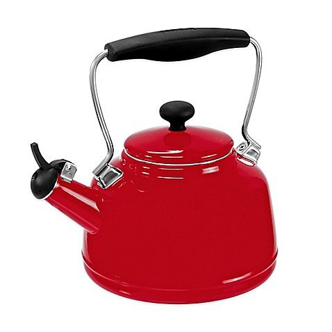 Buy chantal 2 qt vintage tea kettle in red from bed bath beyond - Chantal teapots ...