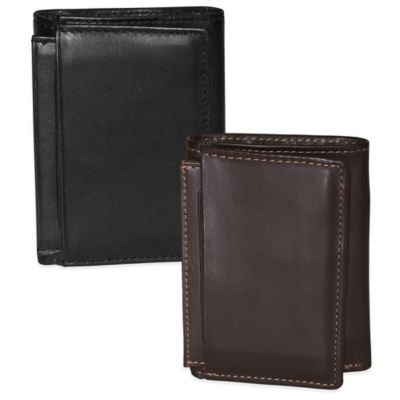 Dopp Leather Regatta ID Three-Fold Wallet in Mahogany