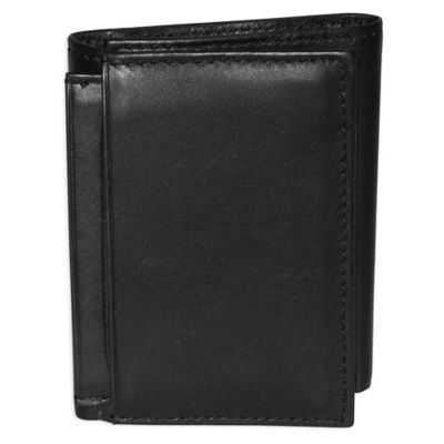 Dopp Leather Regatta ID Three-Fold Wallet in Black