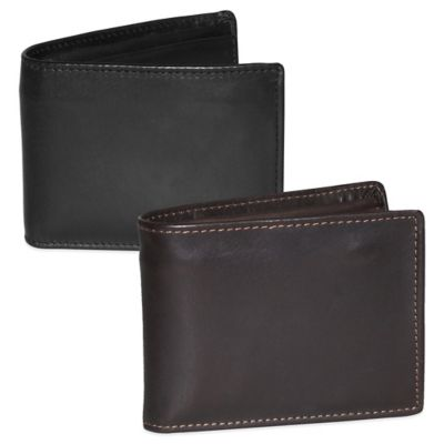 Dopp Leather Regatta Zip-Around Convertible Billfold in Black