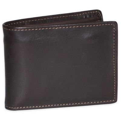 Dopp Leather Regatta Zip-Around Convertible Billfold in Mahogany