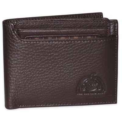 Dopp SoHo RFID-Blocking Leather Thinfold Wallet in Brown