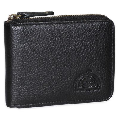 Dopp SoHo RFID-Blocking Leather Zip-Around Wallet in Black