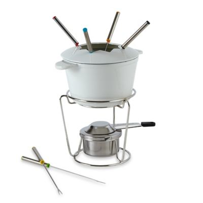 Cuisinart® 13-Piece Cast Iron Fondue Set in White